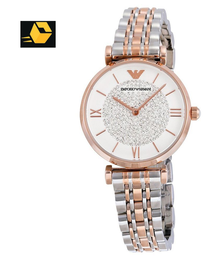 622803a674 Emporio Armani AR1926 White Crystal Pave Dial Two-tone Stainless Steel Ladies  Watch Price in India: Buy Emporio Armani AR1926 White Crystal Pave Dial ...