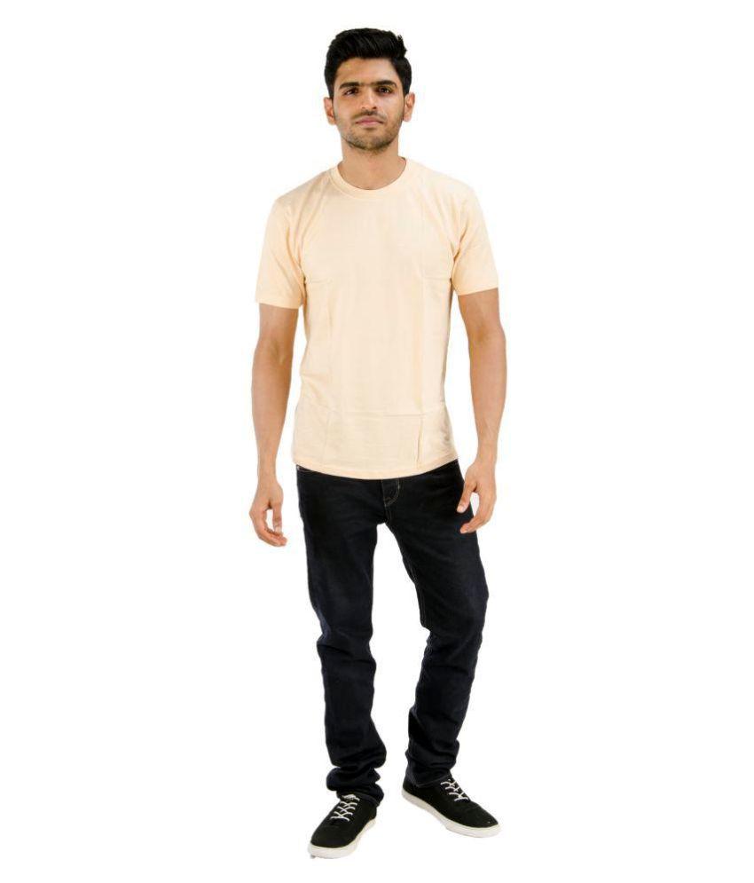 Blueash Beige Round T-Shirt