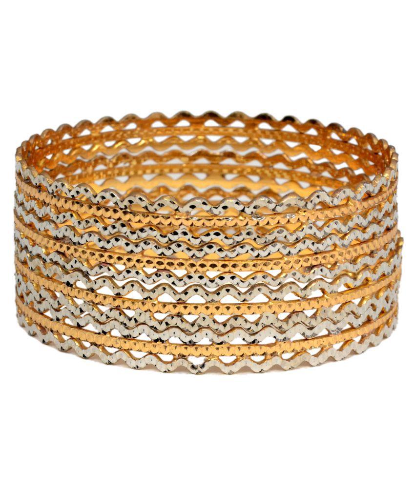 Mansiyaoarange Traditional Hand Work Golden Bangles