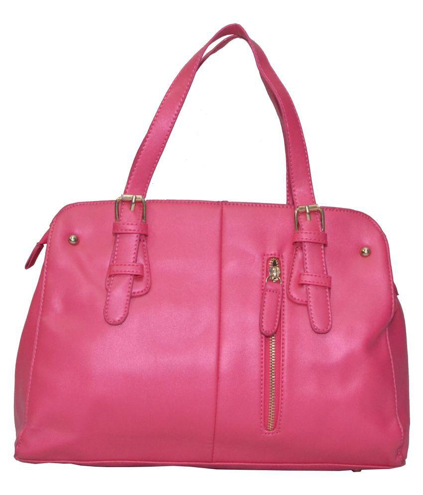 Senora Pink P.U. Satchel Bag