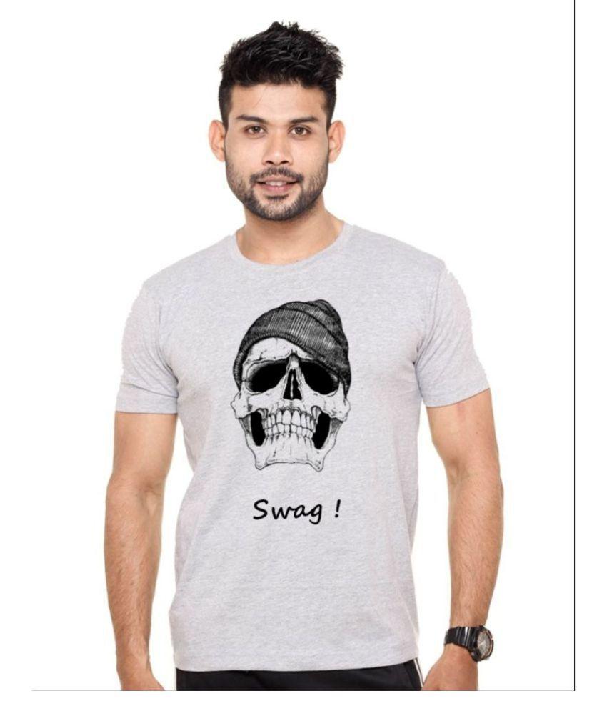 enux Grey Round T-Shirt