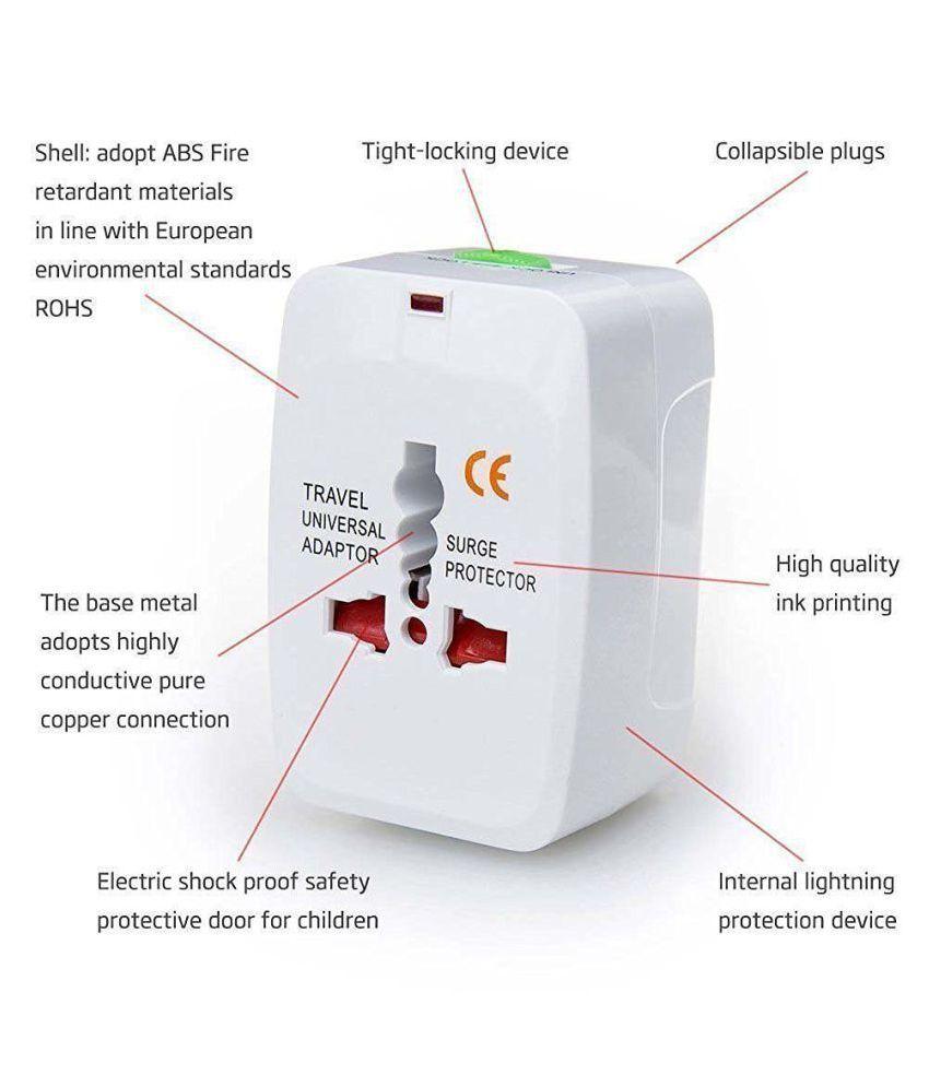 SAISAN Universal Travel Charger World Wide Adapter Plug