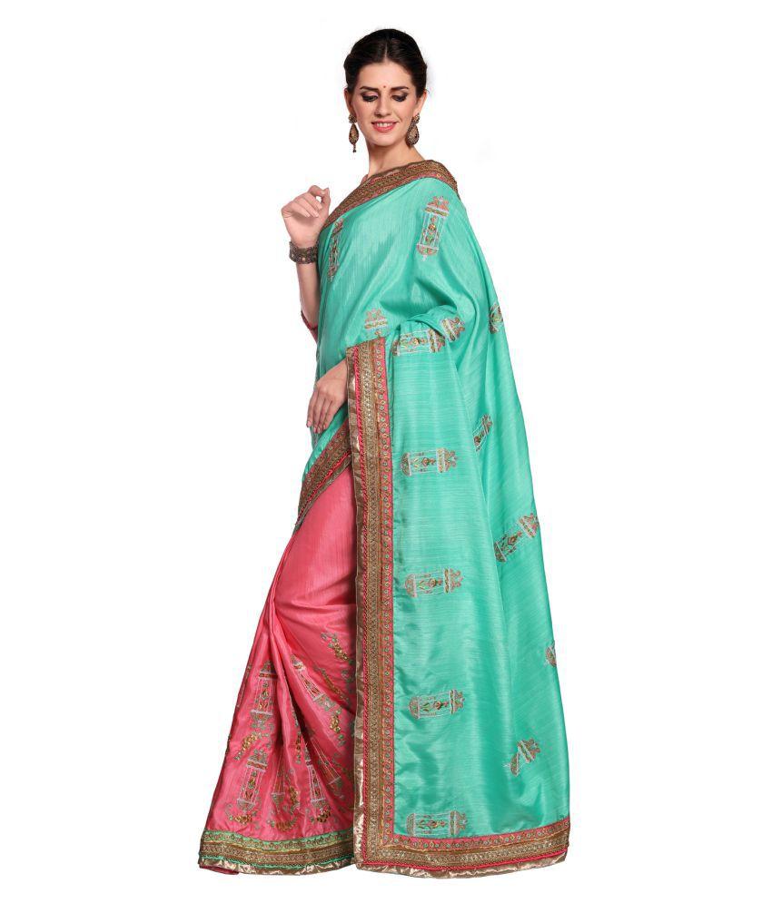Culture Fab Green Silk Saree