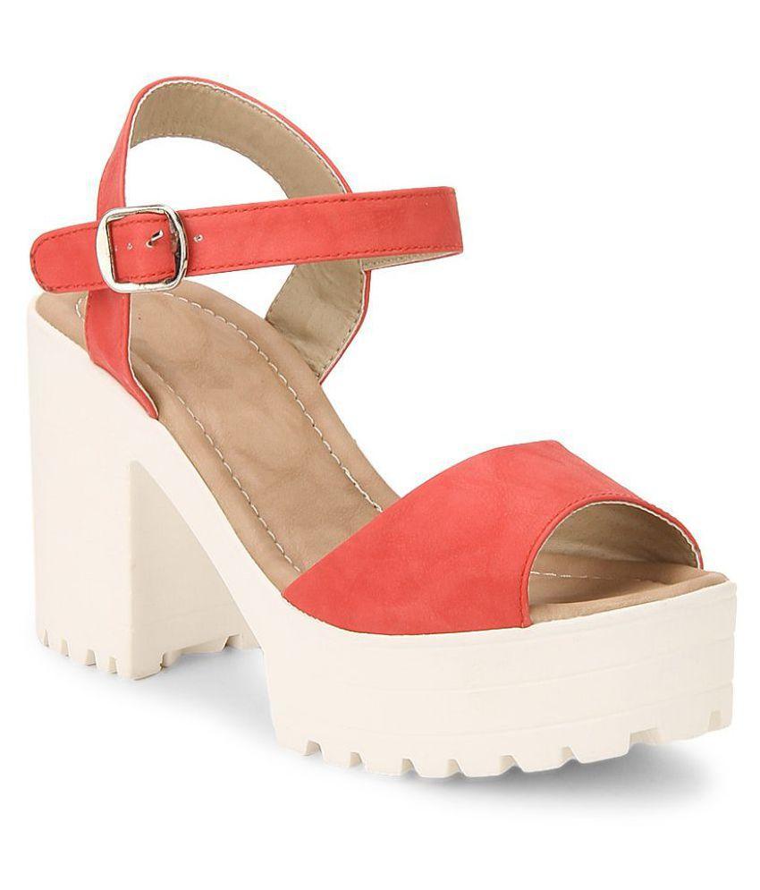 Stepee Red Wedges Heels
