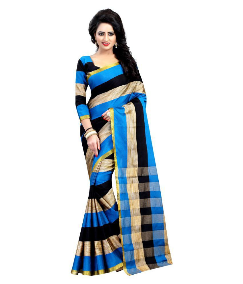 WXW Fashion Multicoloured Cotton Silk Saree