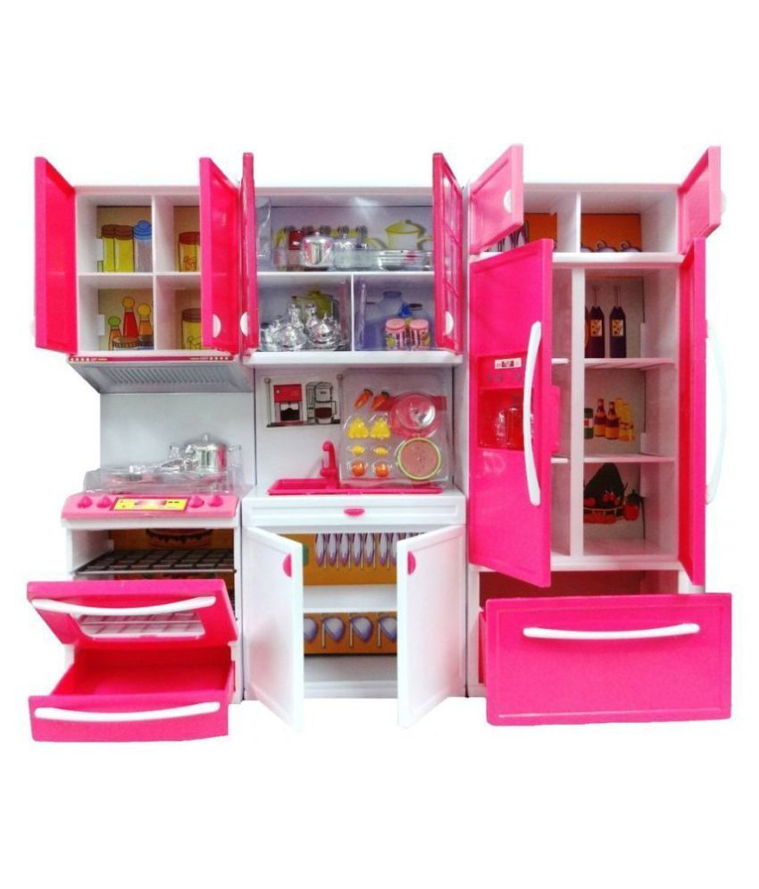 maruti Modern Kitchen Play Set With Refrigerator Cook Top And Drawer ...