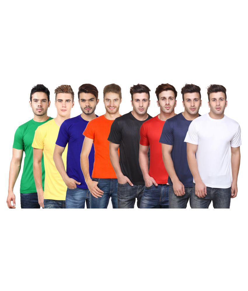 FUNKY GUYS Multi Round T-Shirt Pack of 8