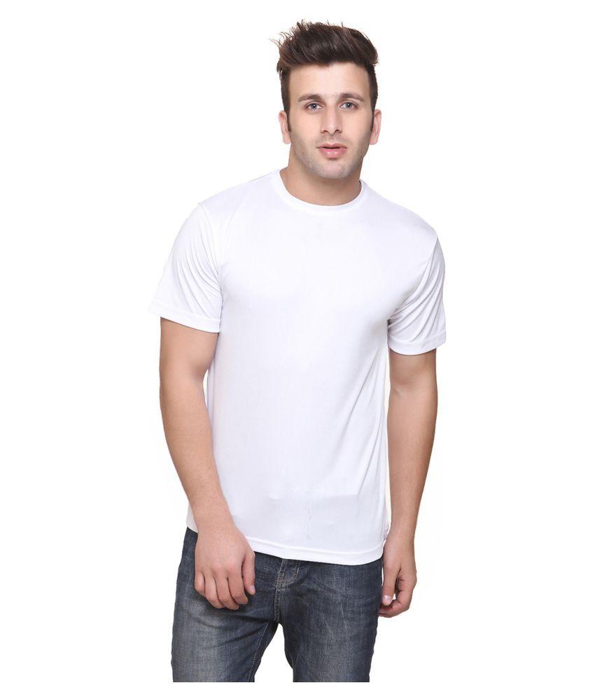 FUNKY GUYS White Polyester T-Shirt Single Pack