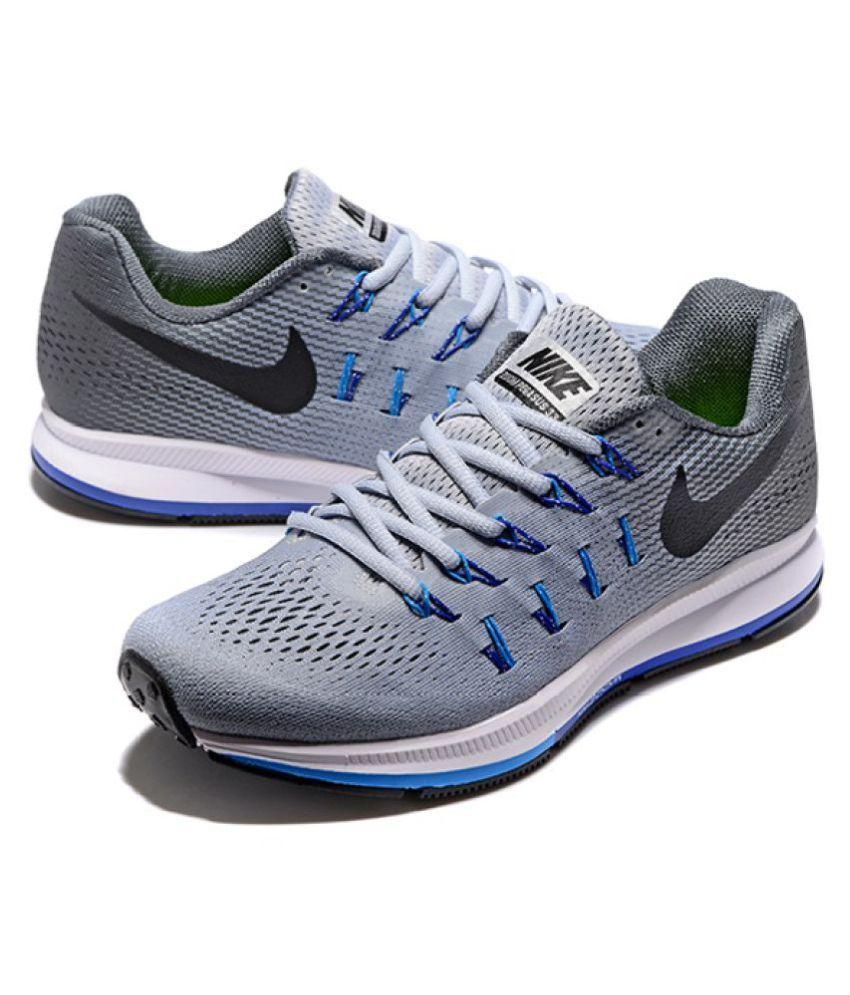 c5fc6a30b84 Nike 1 Pegasus 33 Grey Blue Running Shoes - Buy Nike 1 Pegasus 33 ...