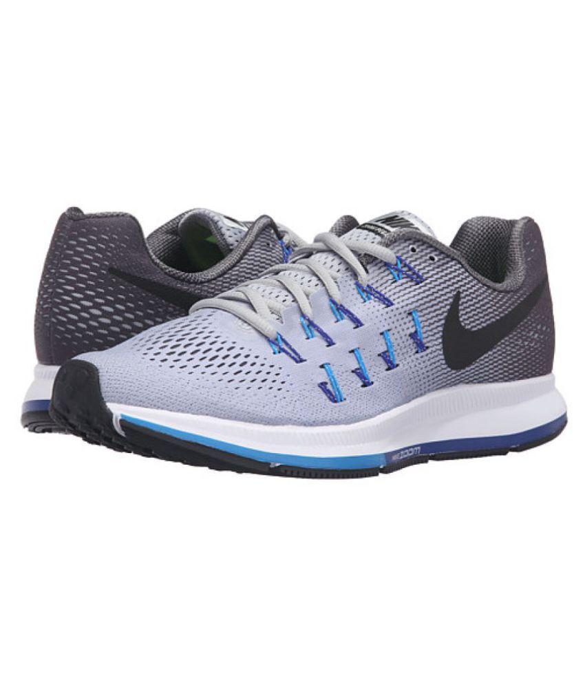 sports shoes 29573 1503d Nike Pegasus 33 Grey Blue Running Shoes
