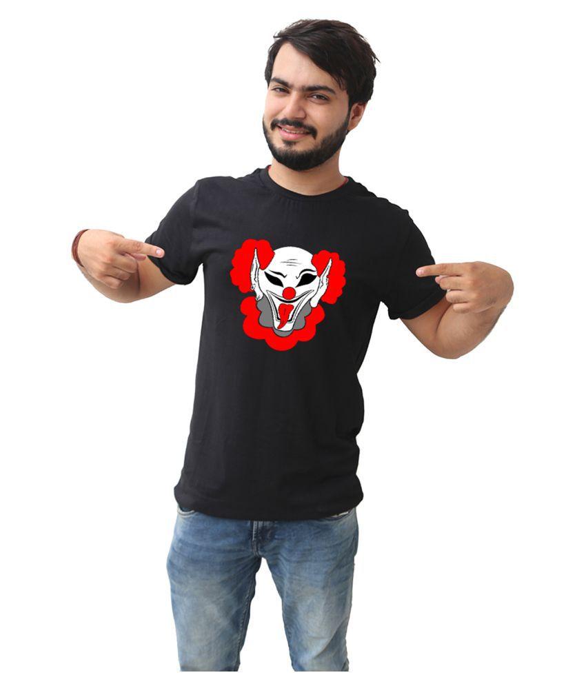 3DOTS Black Round T-Shirt