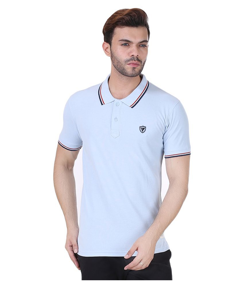 REALM Blue V-Neck T-Shirt