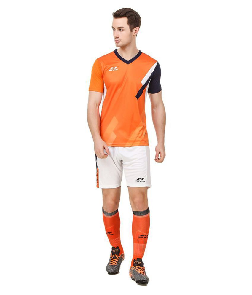 Nivia Orange Polyester Jersey Pack Of 2-M2555XL2