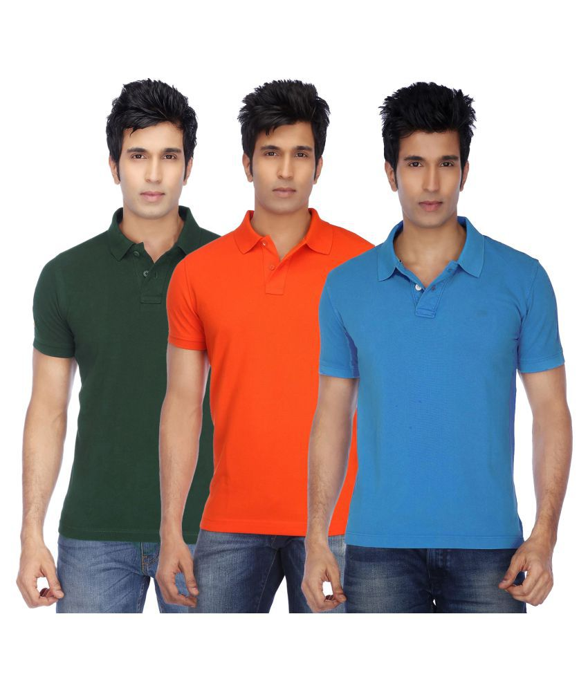 CONCEPTS Multi Polyester Polo T-Shirt Pack of 3