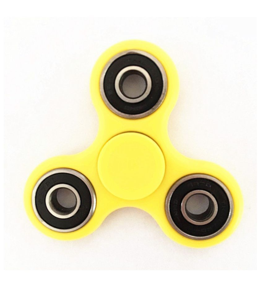 Fidget Spinner Focusing Toys For Kids Adults Best Stress Reducer Yellow