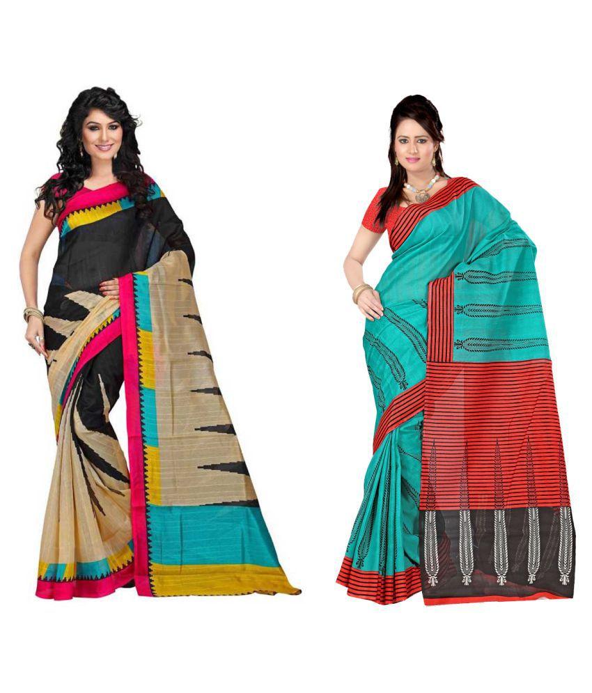 Kavya Fashion Multicoloured Bhagalpuri Silk Saree Combos