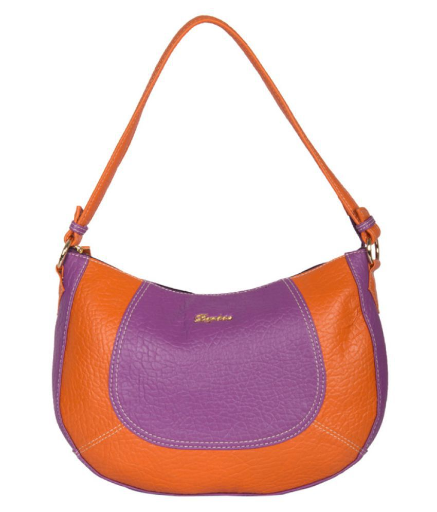 Daphne Purple Faux Leather Handheld