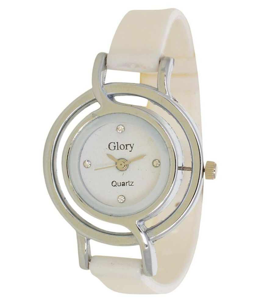6ea095dee7 Designer White Analog Watch For Women Price in India: Buy Designer White  Analog Watch For Women Online at Snapdeal