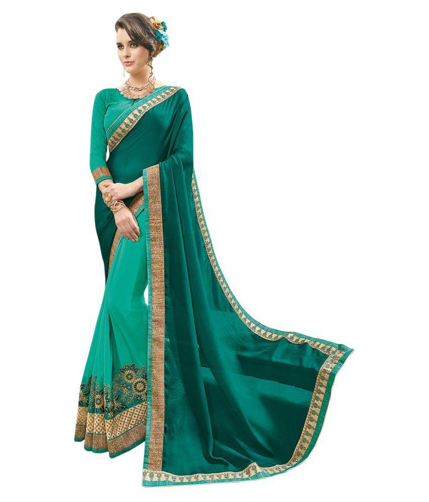 maroosh Green Georgette Saree