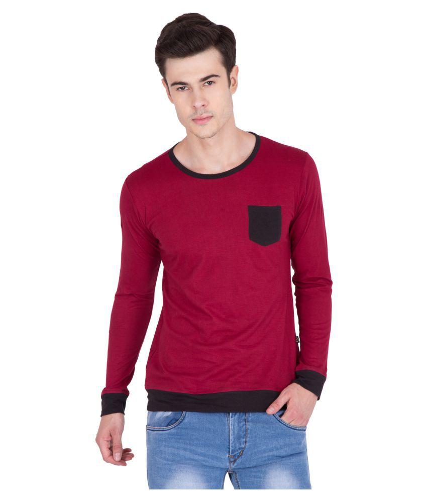 PAUSE Maroon Round T-Shirt
