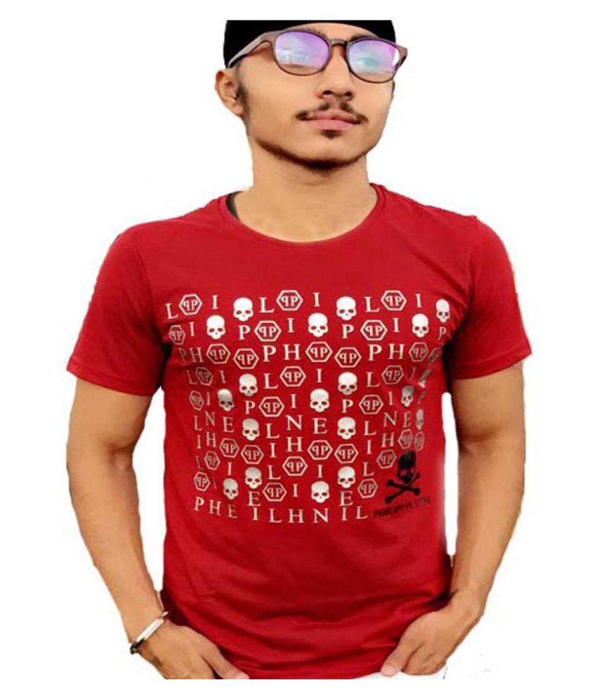GS RETAILS Red Round T-Shirt