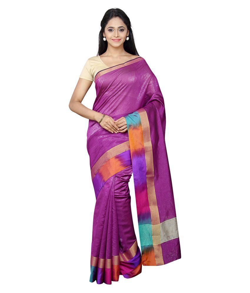 Pavecha's Purple Banarasi Silk Saree