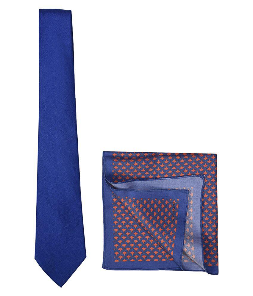 CHOKORE Blue Plain Silk Combo