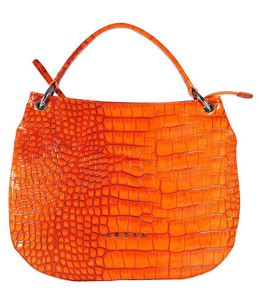 Cross Orange P.U. Hobo Bag