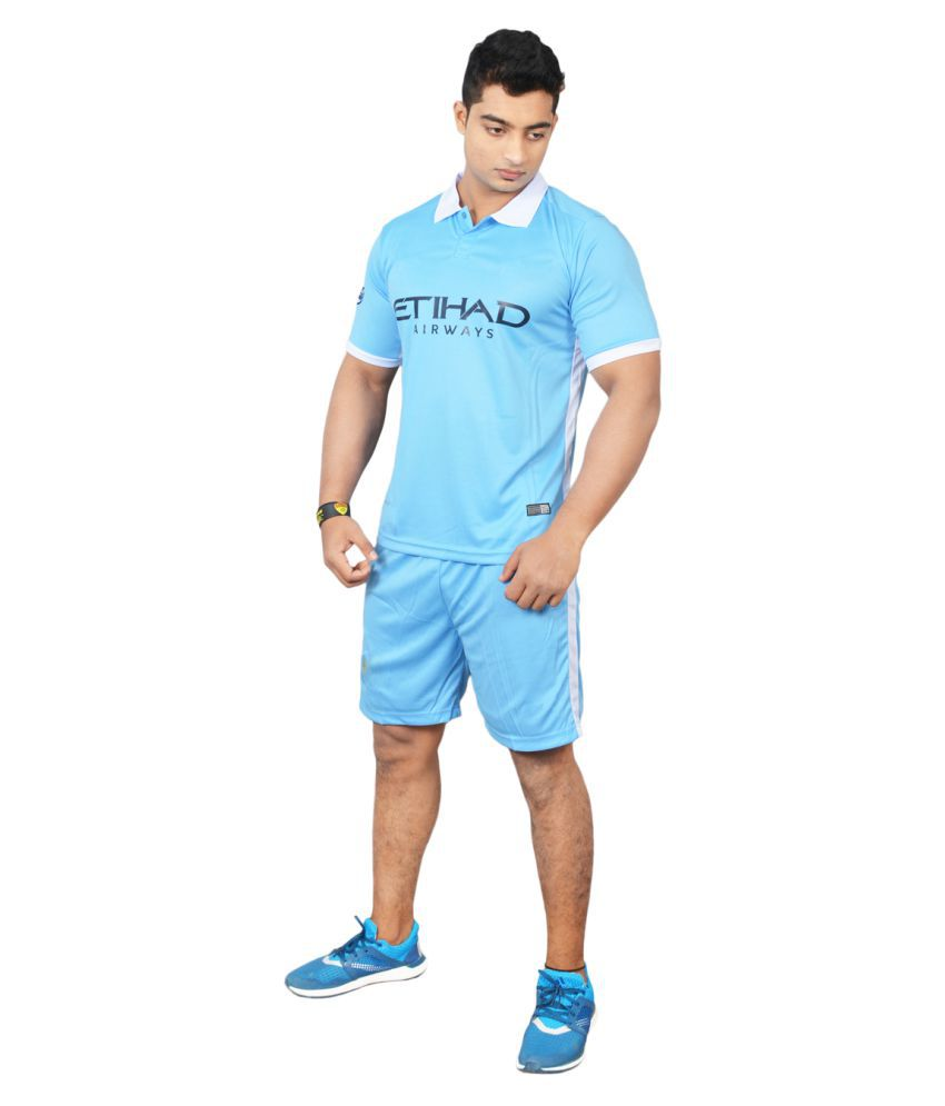 Football Fan Sky Blue Polyester Jersey