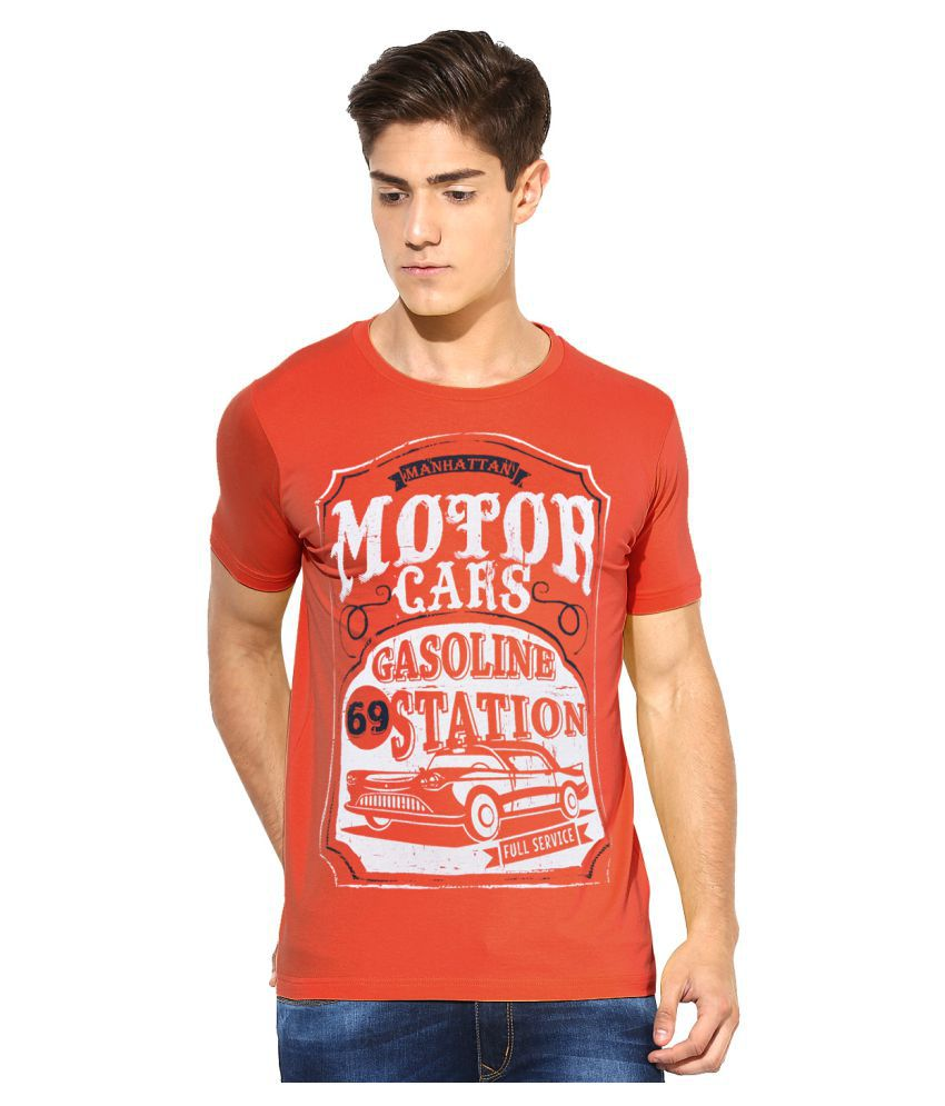 MOONWALKER Orange Round T-Shirt