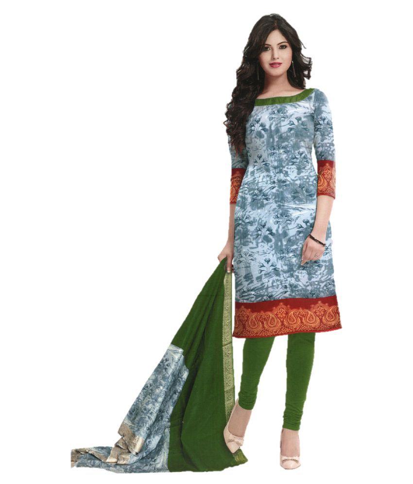 Shalibhadra Multicoloured Cotton Dress Material