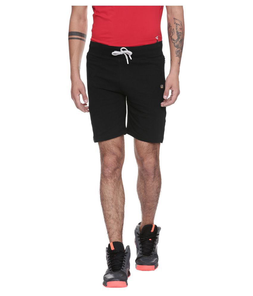 97fc73391bcb Balista Black Cotton Running Shorts Single - Buy Balista Black Cotton  Running Shorts Single Online at Low Price in India - Snapdeal