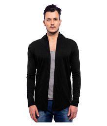 Maniac Black Shawl Neck Sweater