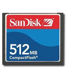 SanDisk 512 MB COMPACT FLASH (CF) GB mbps