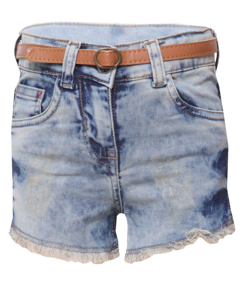 Tales & Stories Girls Grey Denim Shorts