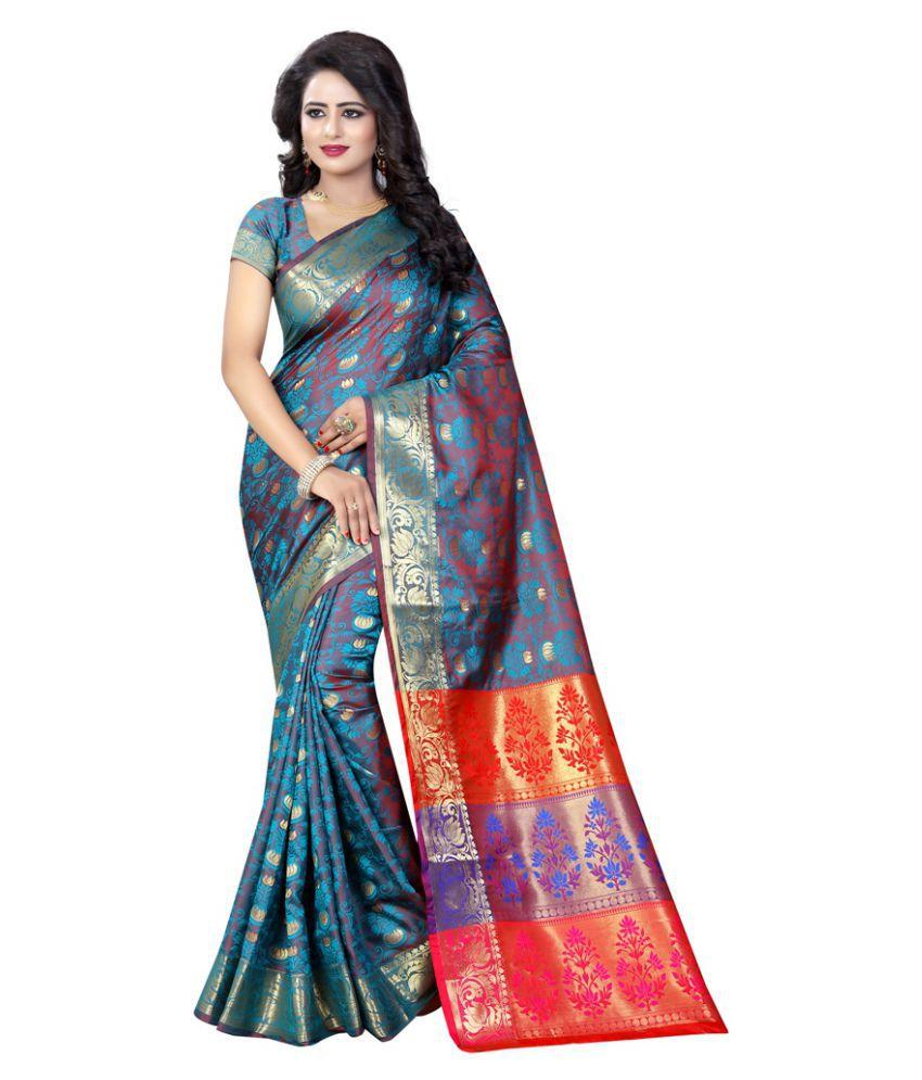 Edeal Online Multicoloured Silk Saree