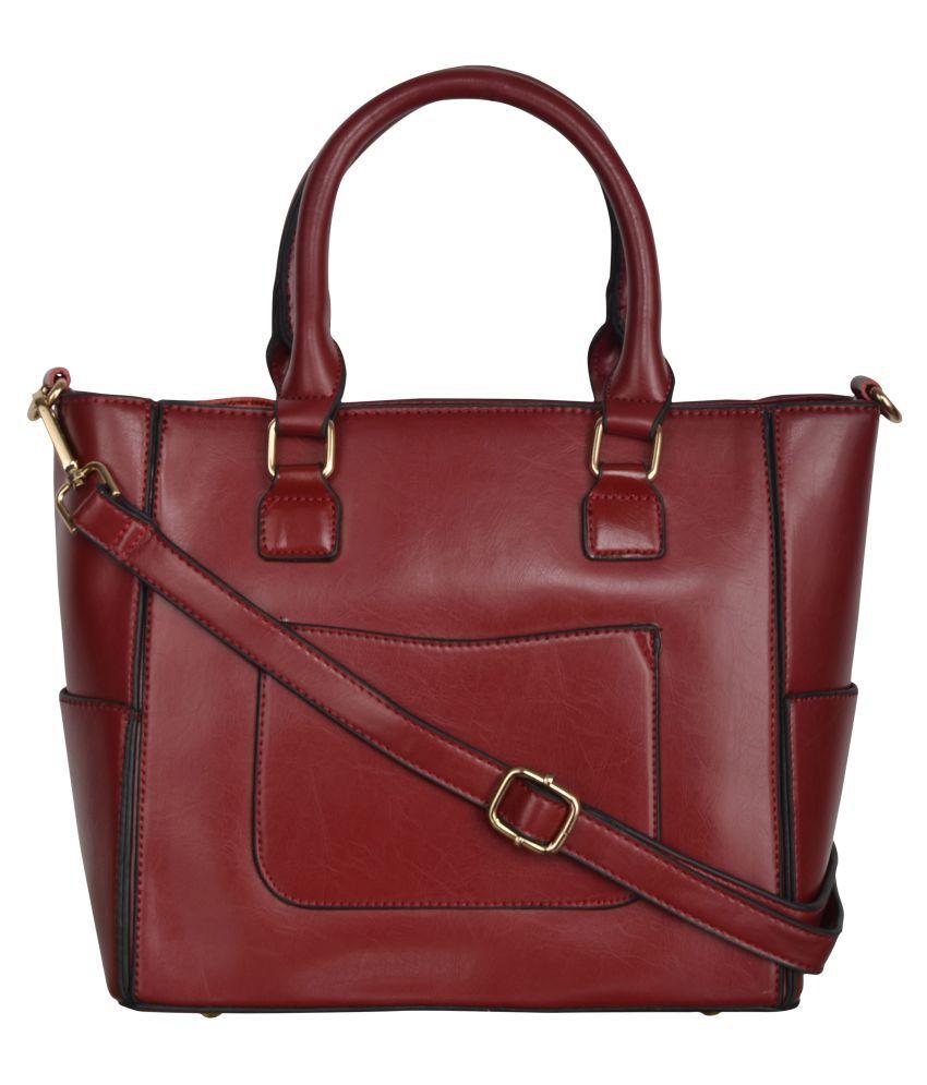 Fiona Trends Red P.U. Shoulder Bag