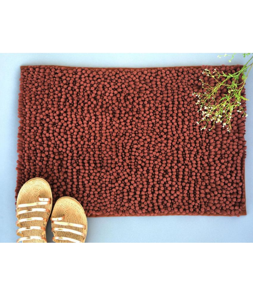 NestRoots Brown Single Anti-skid Floor Mat