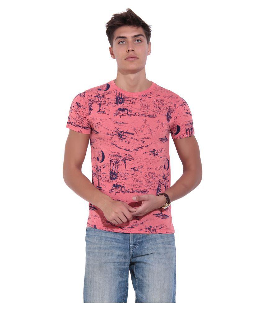 TAB91 Peach Round T-Shirt