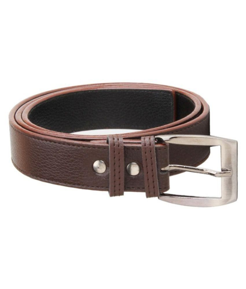 A-one Brown PU Formal Belts