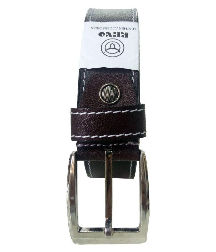 Revo Brown Leather Formal Belts