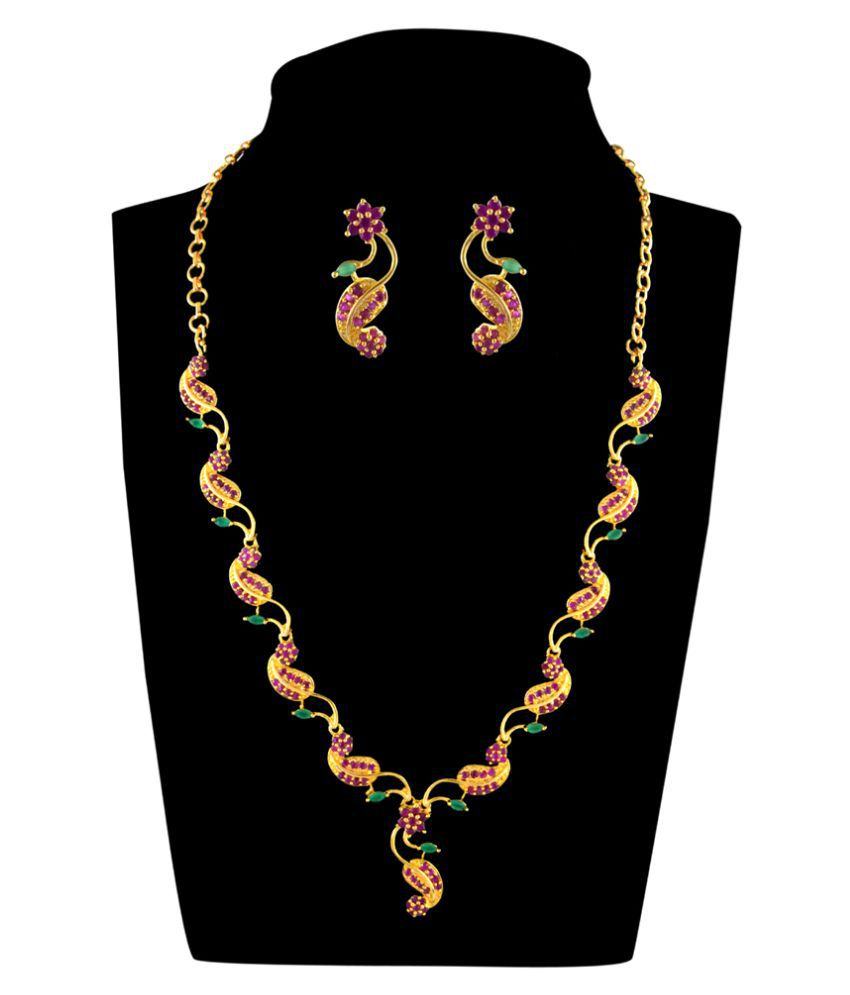 Kalyani Covering AD Necklace Set for Women and Girls