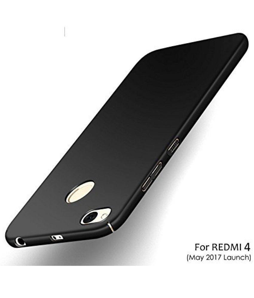 Xiaomi Redmi 4 Plain Cases Galaxy Plus - Black