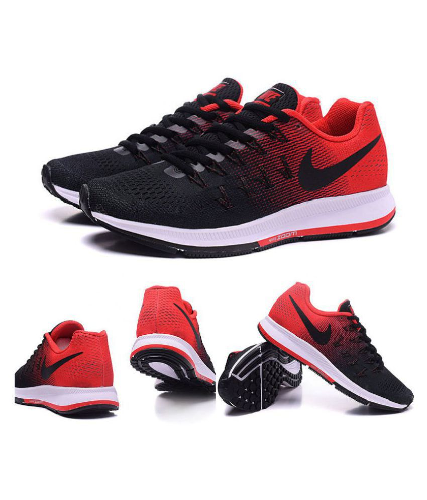 a18f47c7e2ce Nike Air Pegasus 33 Black Red Running Shoes - Buy Nike Air Pegasus 33 Black  Red Running Shoes Online at Best Prices in India on Snapdeal
