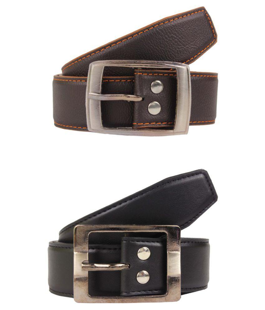 Bulls Hide Multi Faux Leather Formal Belts