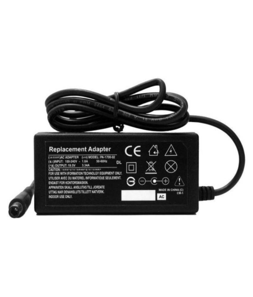 sarc infotech Laptop adapter compatible For Dell 19V 3.34A 65W