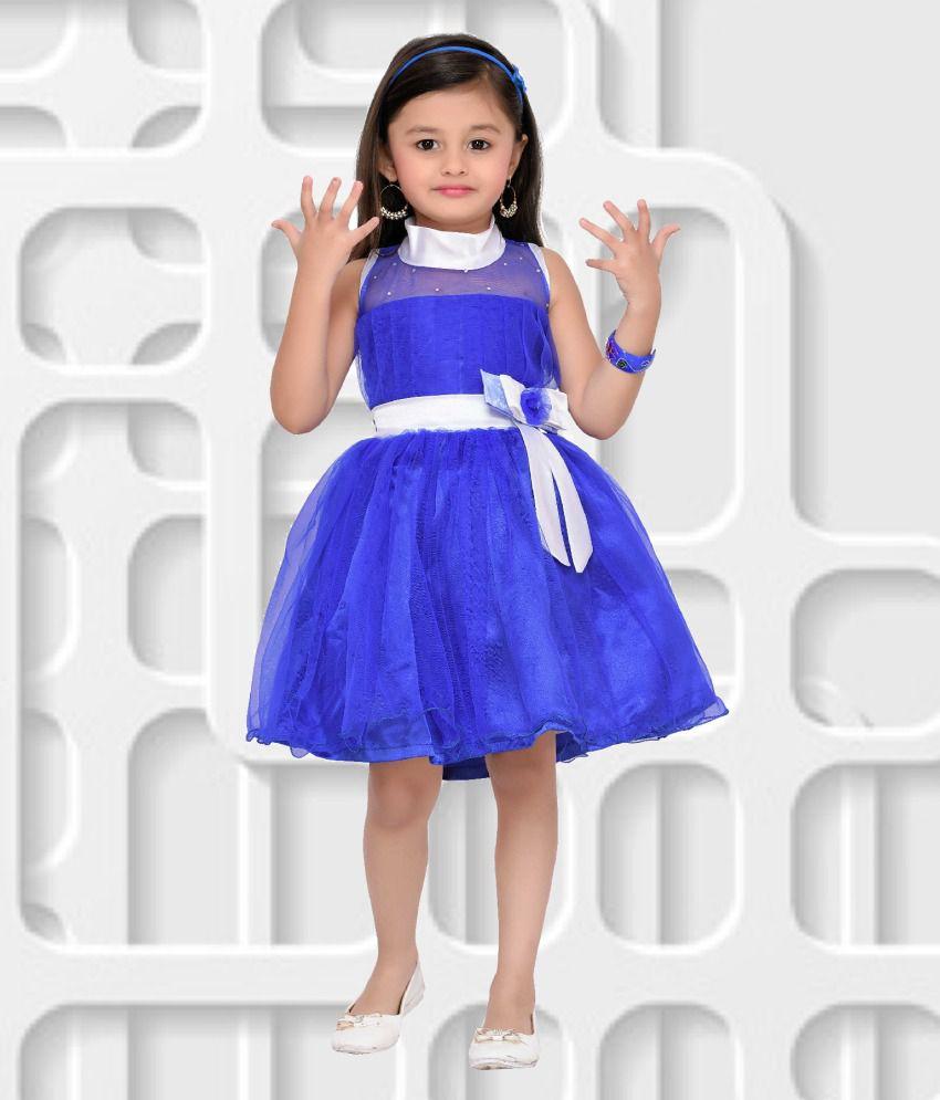 d8865dff32 Aarika Blue Frock - Buy Aarika Blue Frock Online at Low Price - Snapdeal