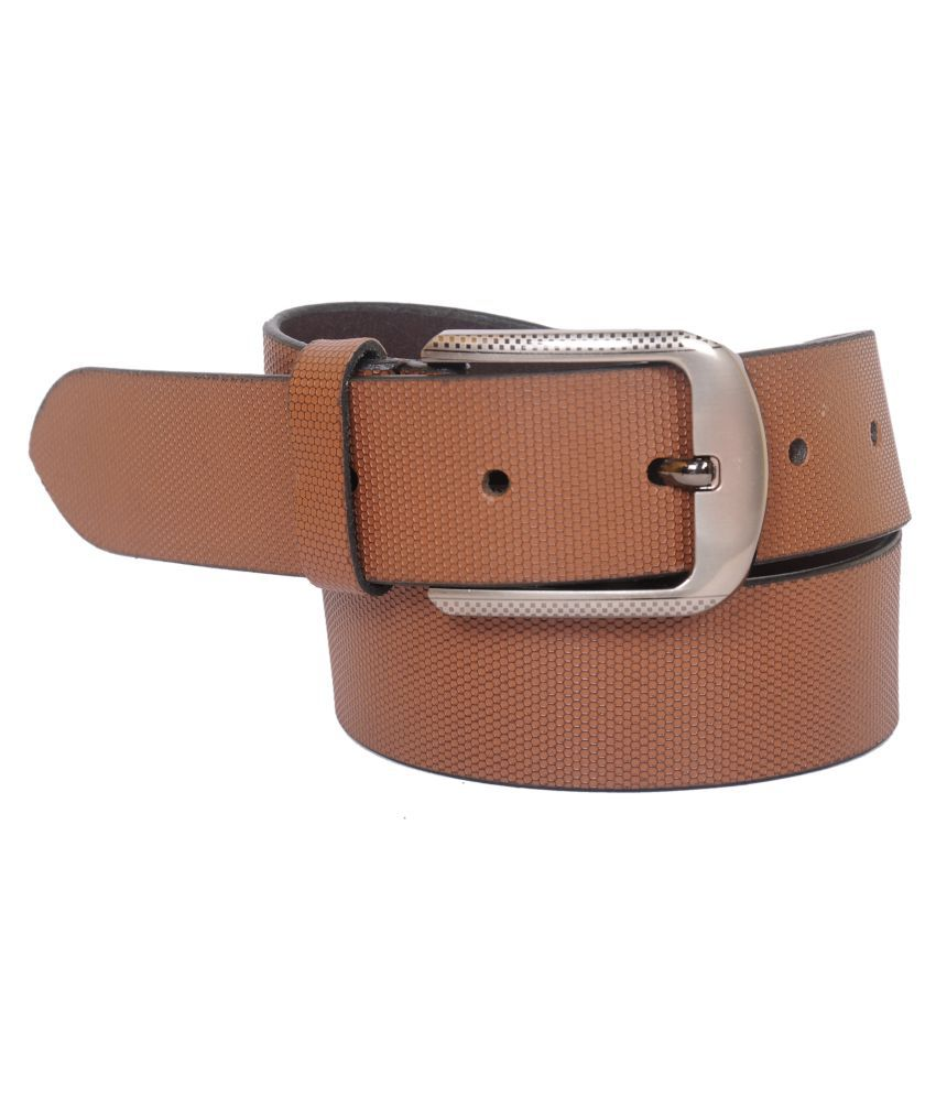 Naysa Brown Leather Casual Belts