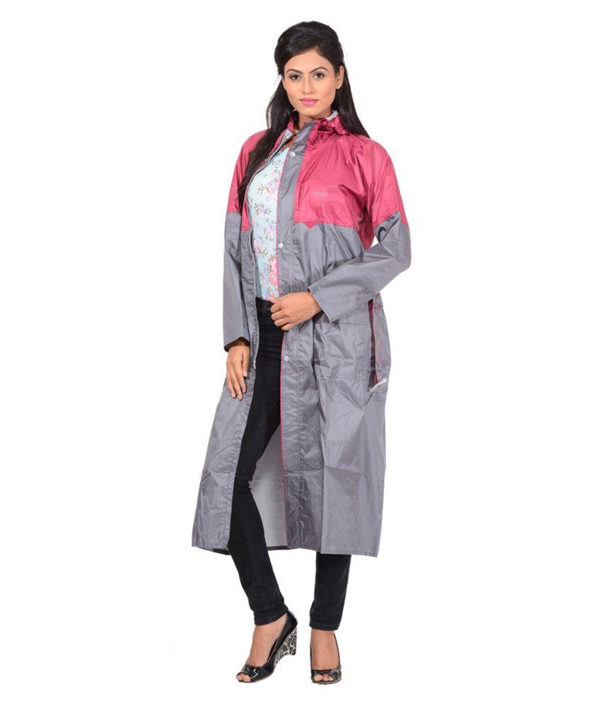 NiceG Polyester Long Raincoat