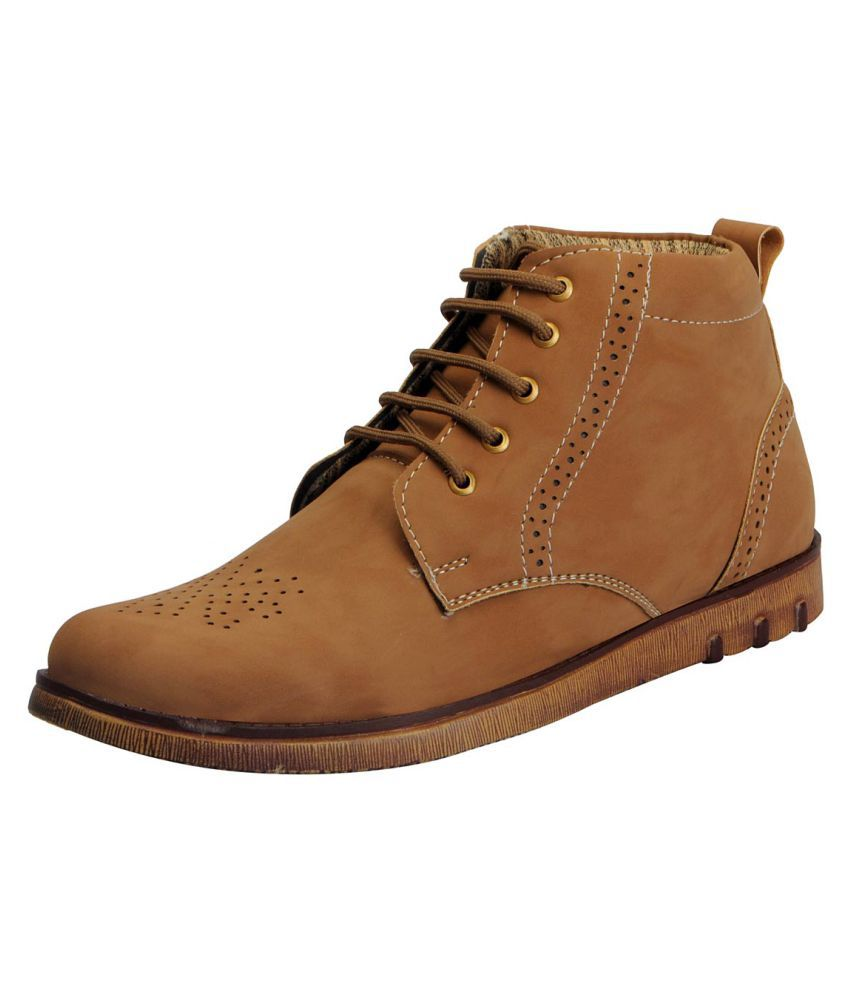 FAUSTO Men's Outdoor Brown Casual Shoes